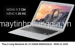 Thay ổ cứng Macbook Air 13 256GB MQD42SA/A